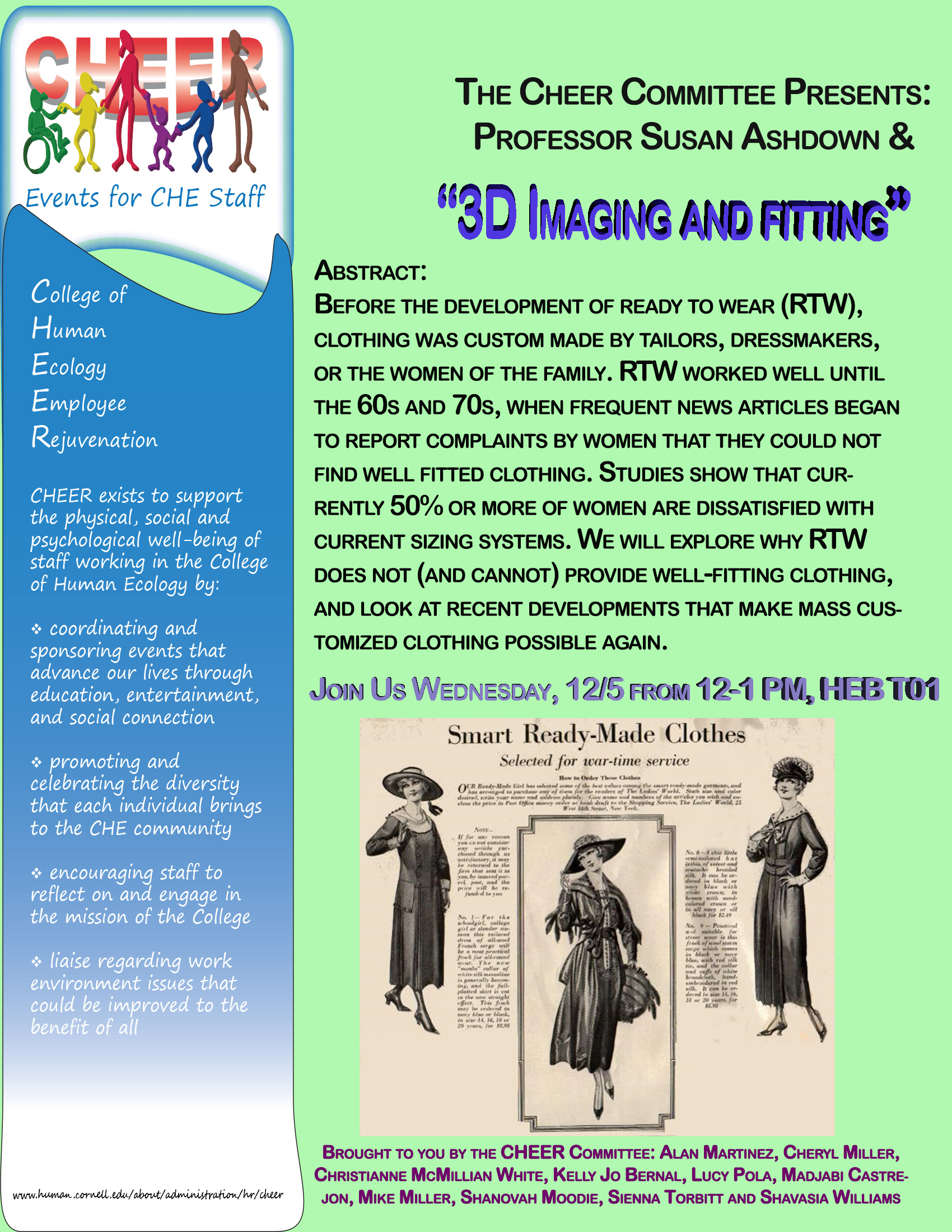 Flyer advertising 3D image talk on 12/5/18, room HEB T01