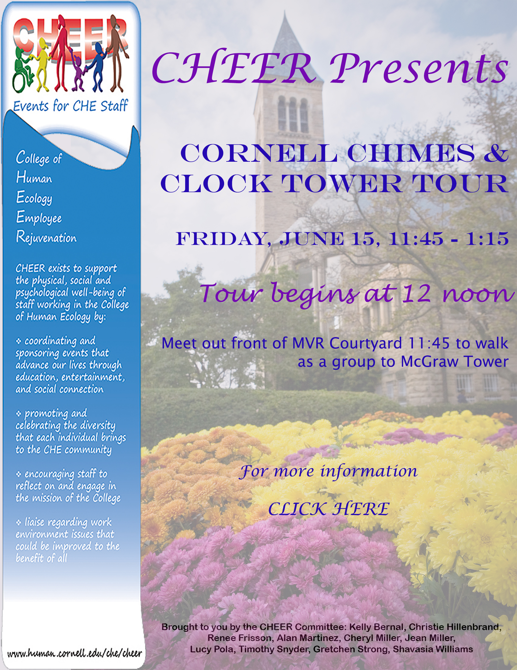 clock tower flier