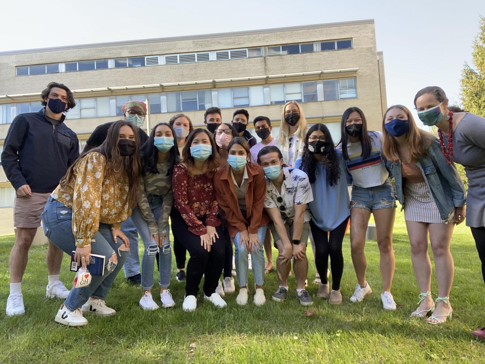 group photo of global health student advisory board members