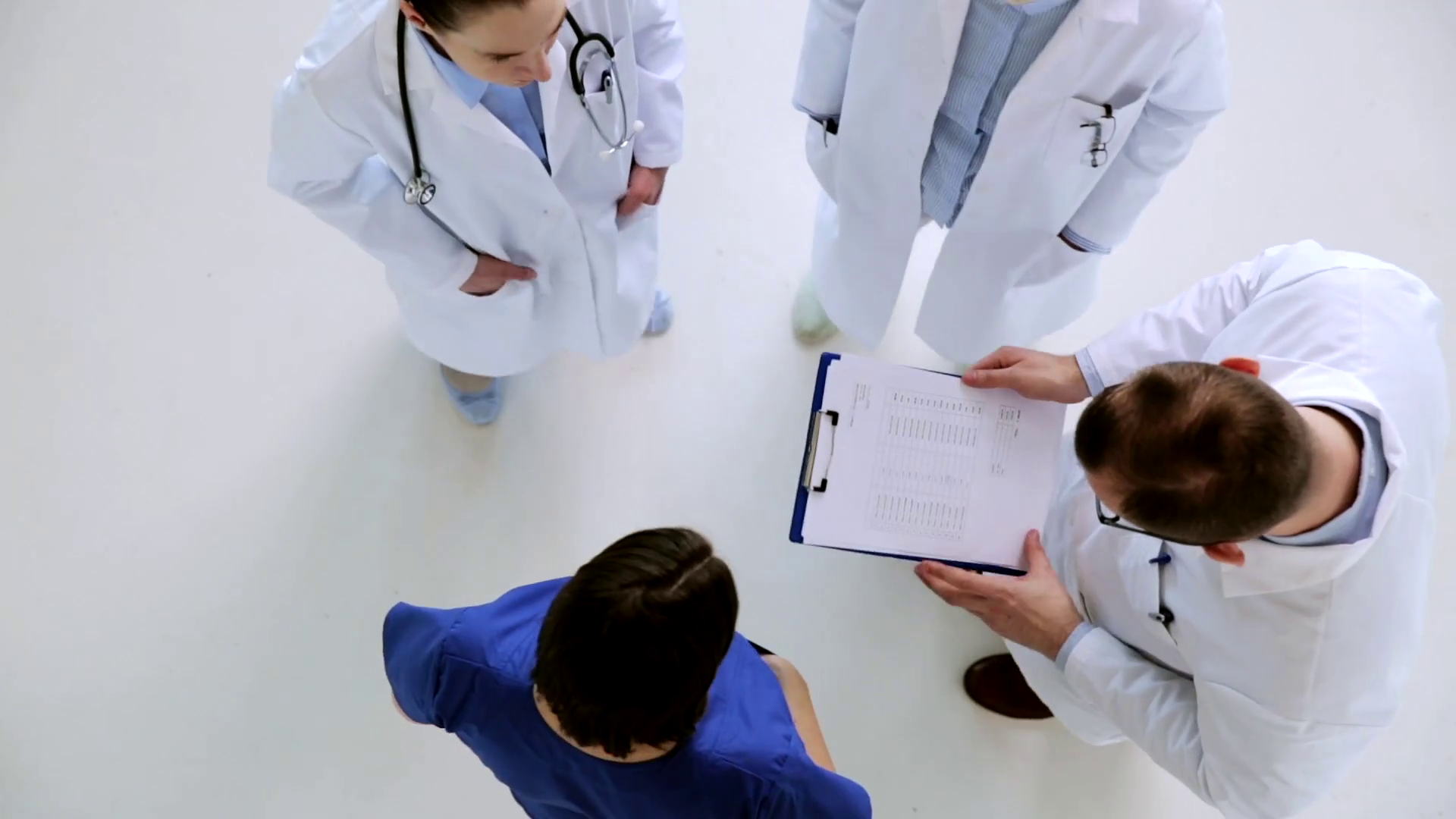Doctors standing in circle