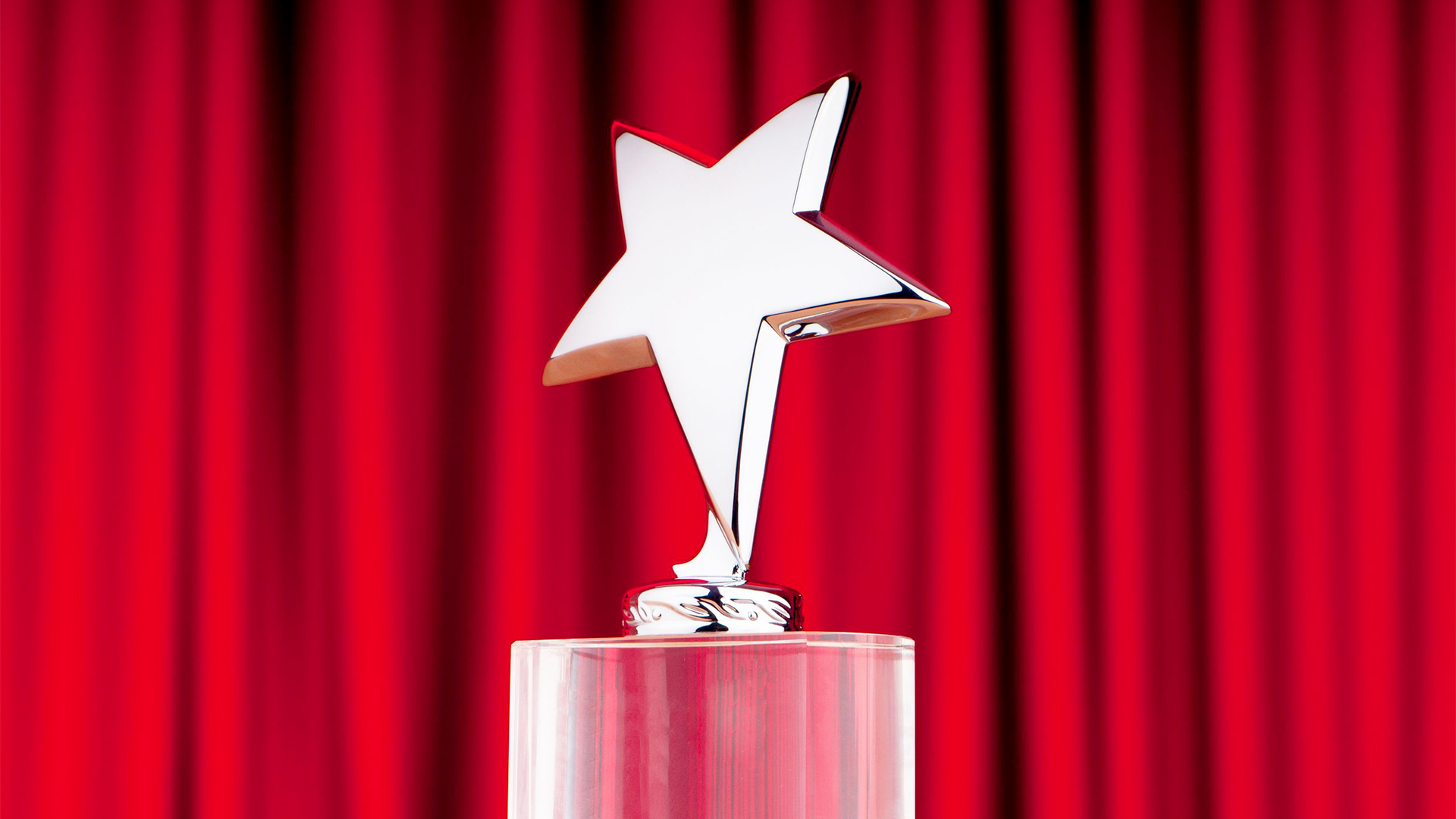 award in shape of 5 point star