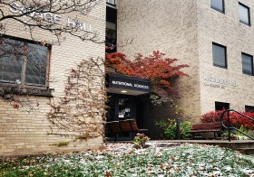 savage hall exterior in late fall