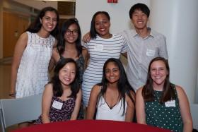 Judy Lui '21 with classmates