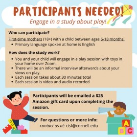 participants needed - study about play