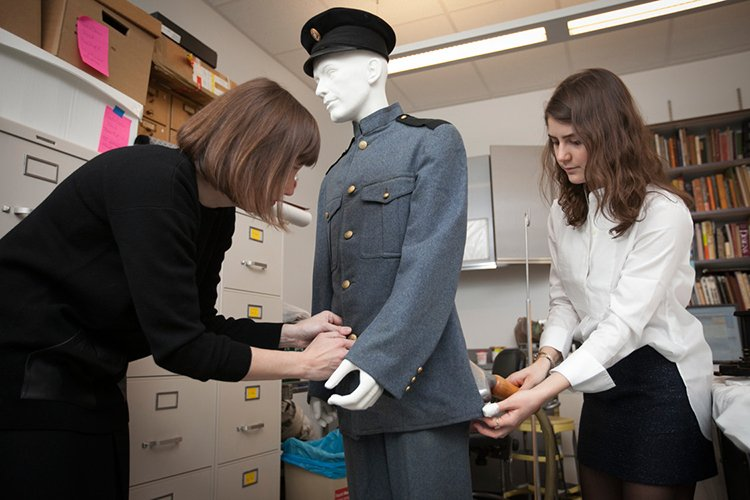 fitting uniform on mannequin