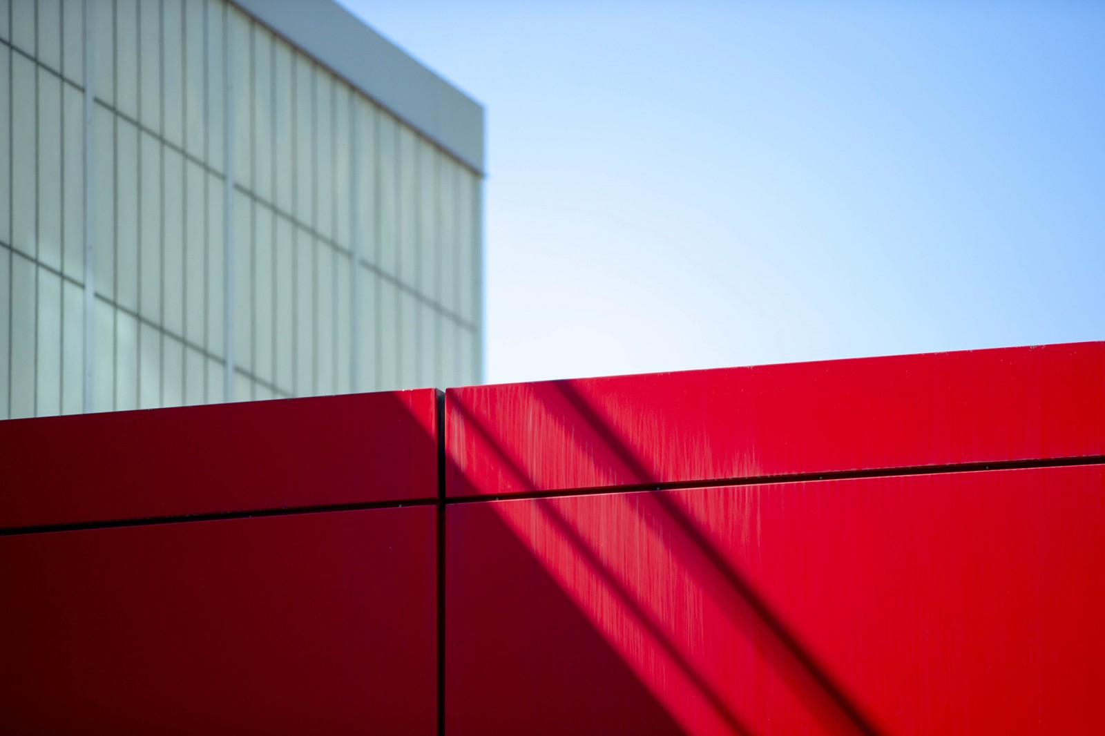 red wall of the human ecology building
