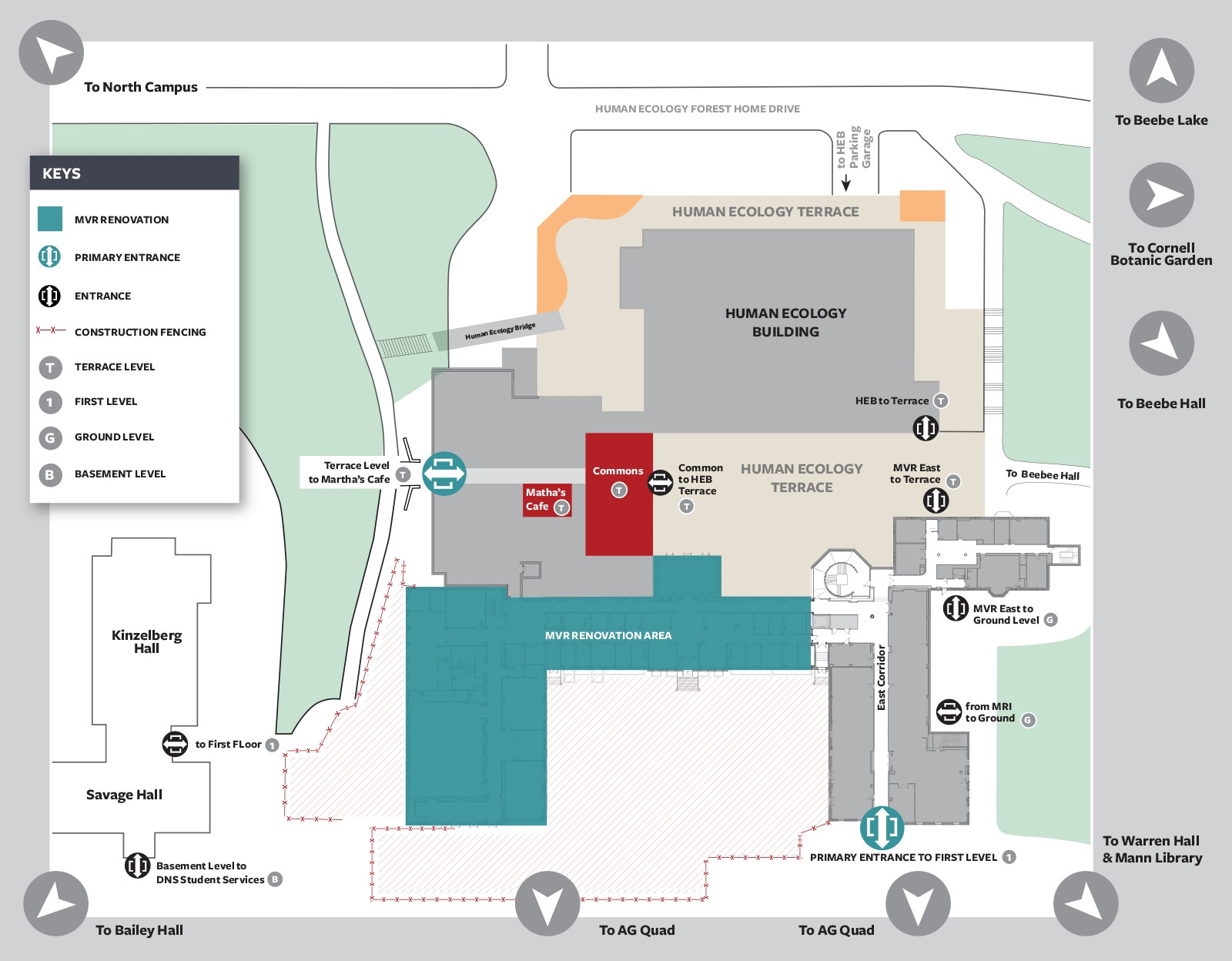 Renovation access map for MVR and HEB