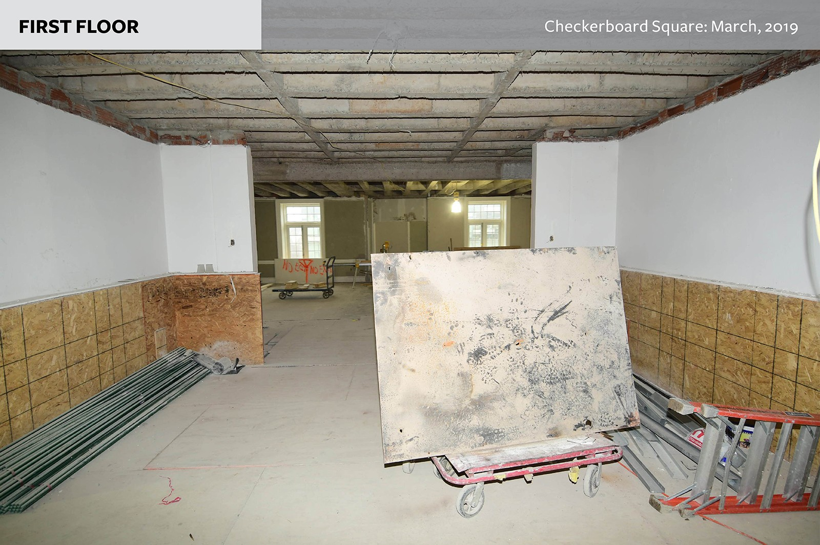 First floor: Checkerboard Square as of March, 2019