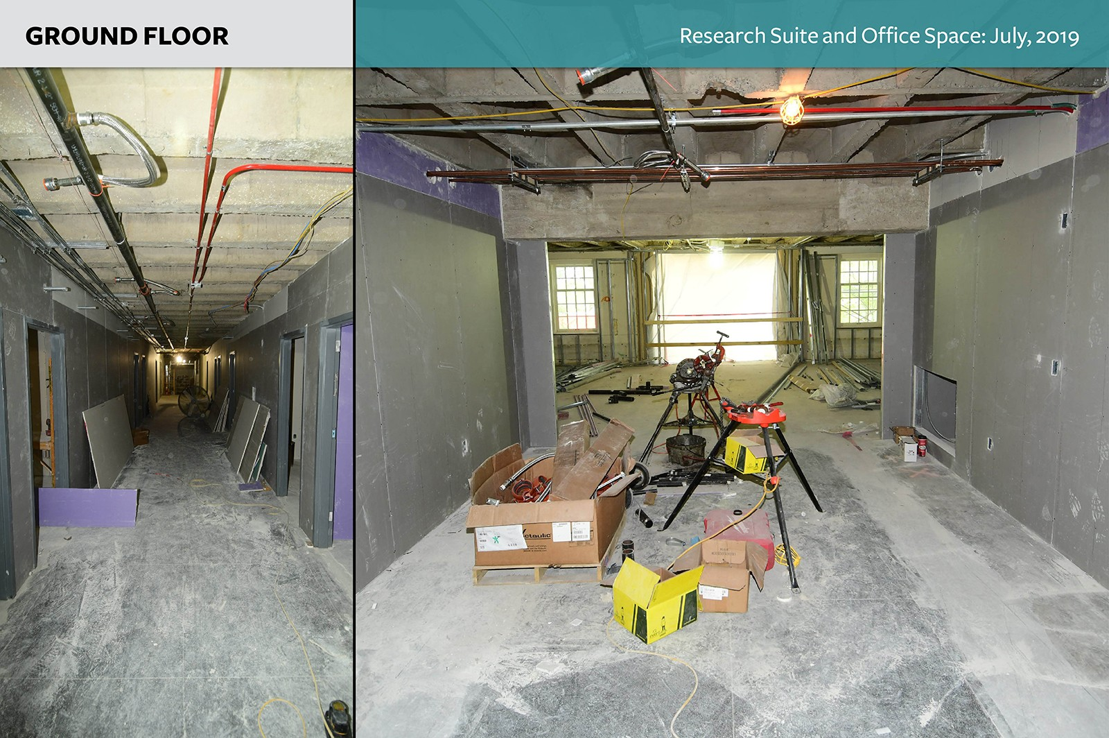 Ground Floor: Research Suite and Office Space as of July, 2019