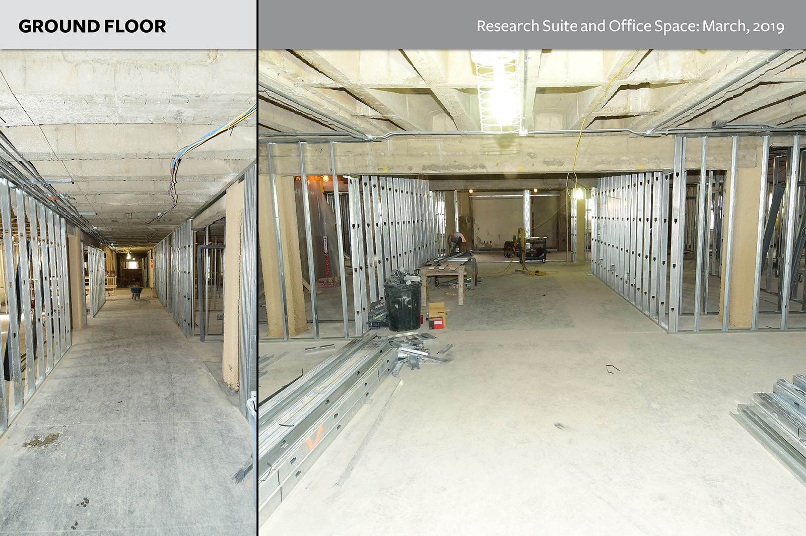 Ground Floor: Research Suite and Office Space as of March, 2019