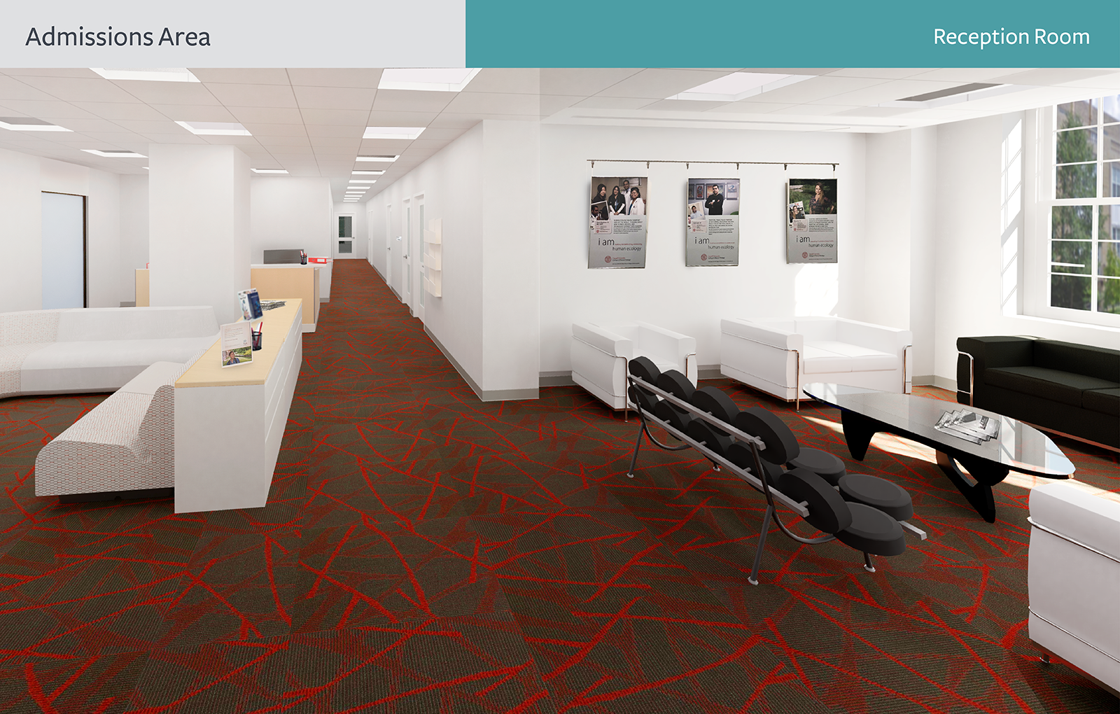 The rendering of Admissions Area, Reception Room