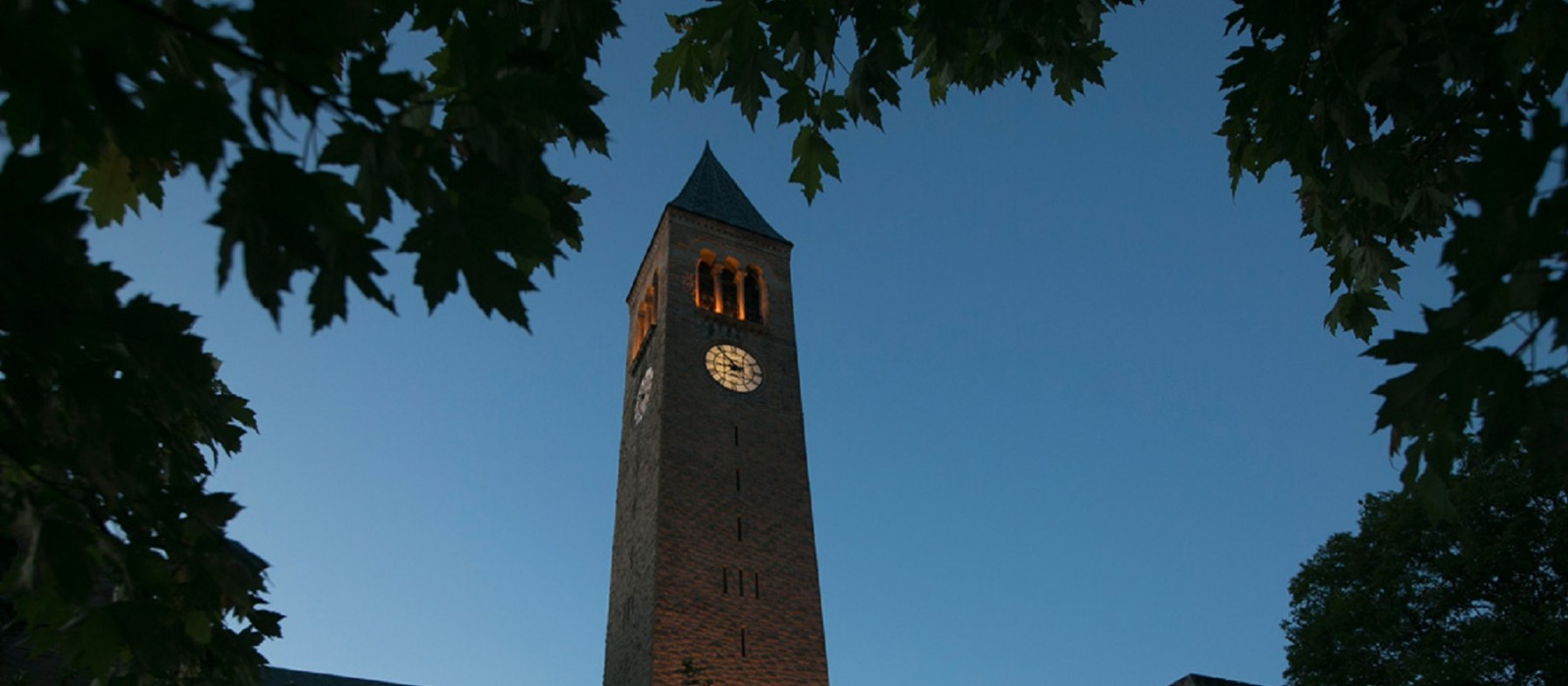 cornell clocktower at dusk