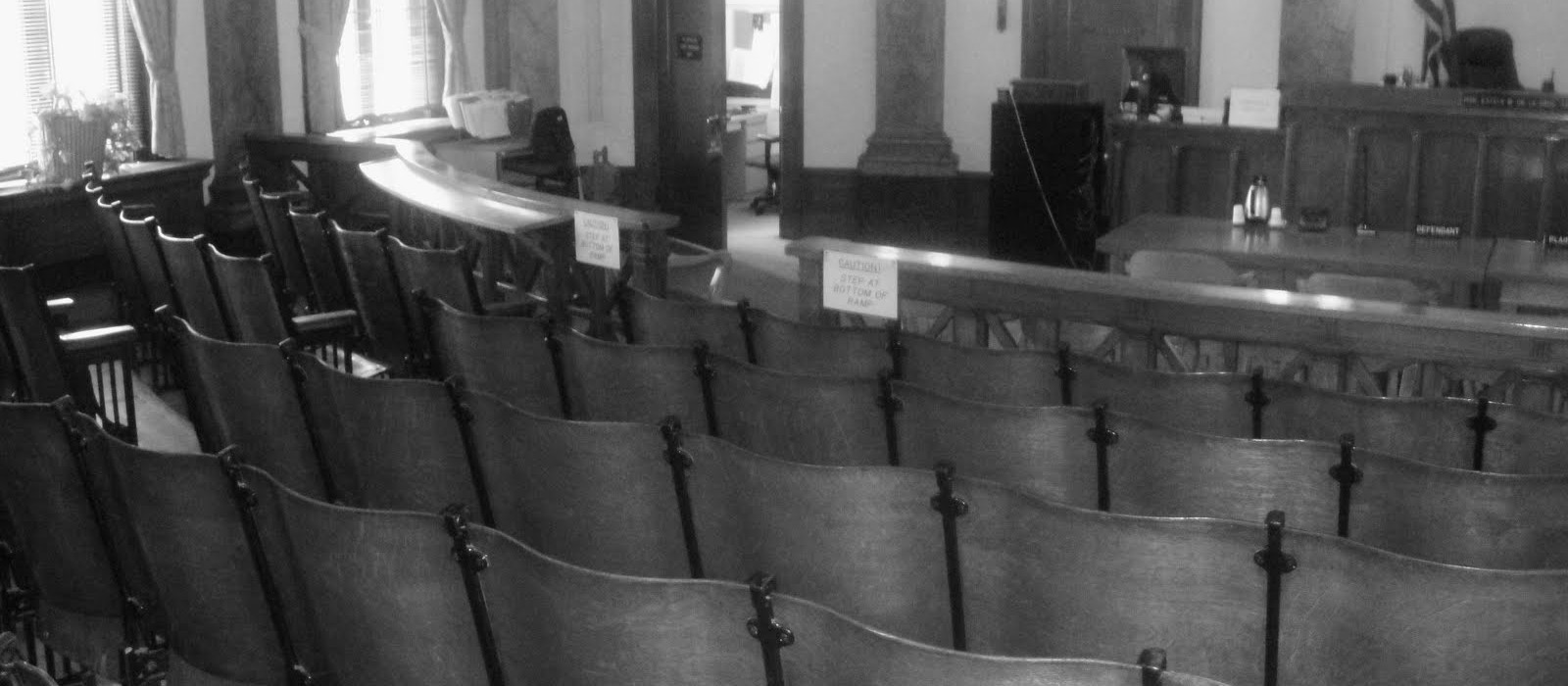 chairs in a court room