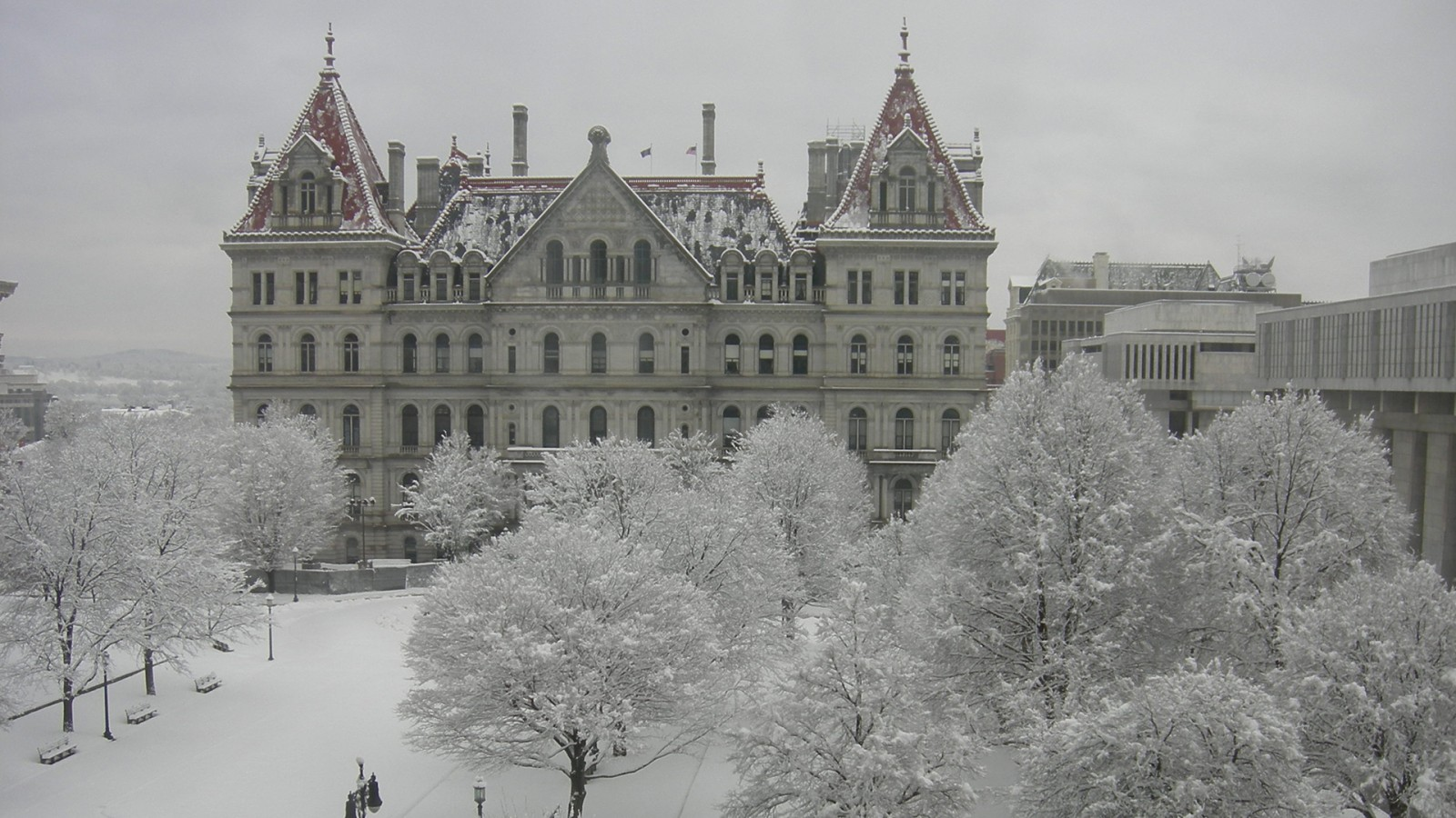snow storm in Albany