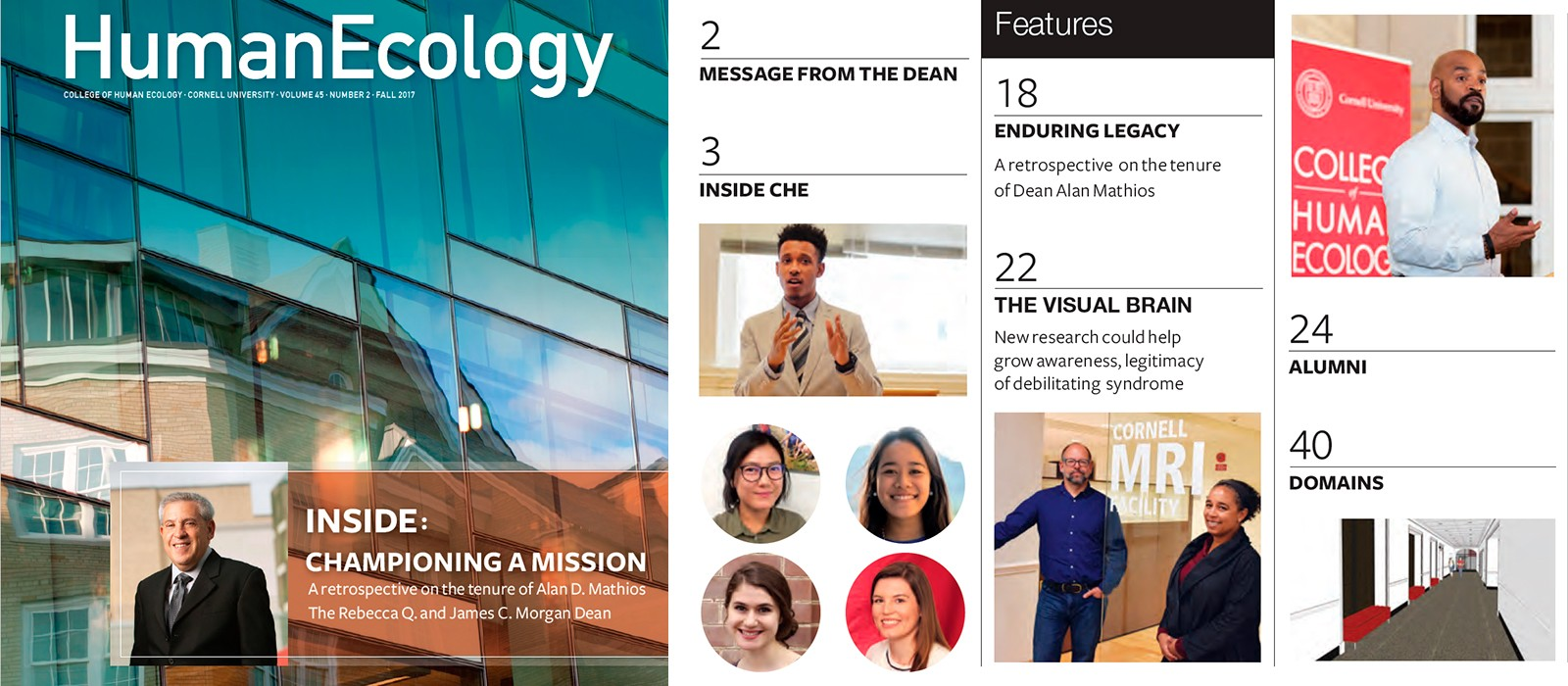 Human Ecology magazine cover and table of contents