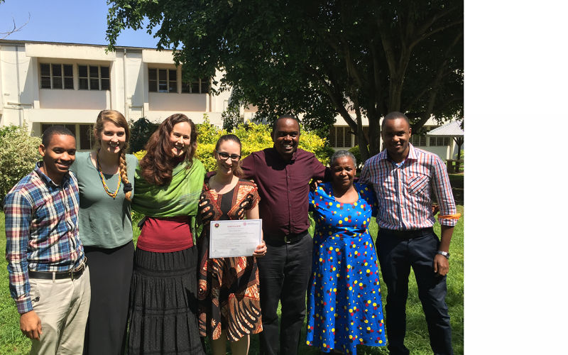 Instructors and participants in the Tanzania Summer Program