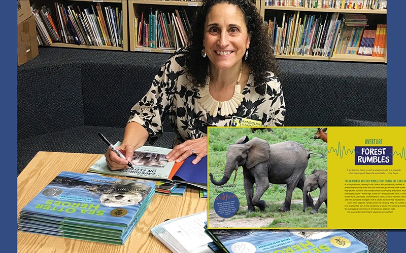 Patricia Newman at a book signing