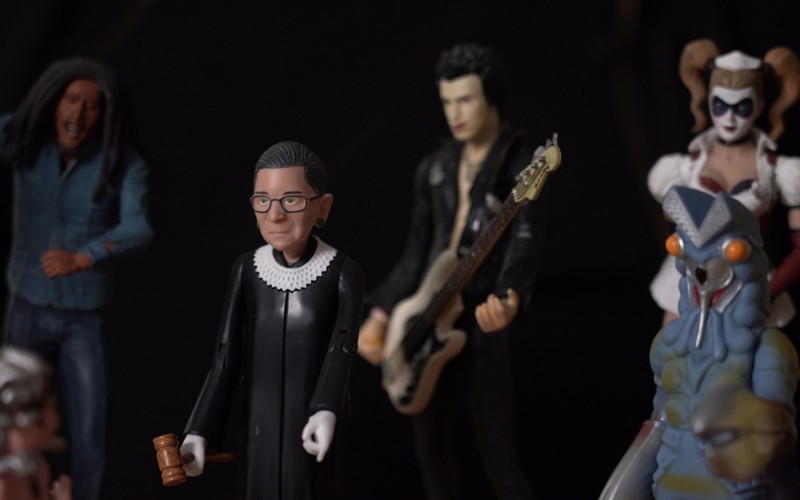 Examples of Jon McKenzie's thought-action figures include Bob Marley, Ruth Bader Ginsburg '54, Sid Vicious and Harley Quinn