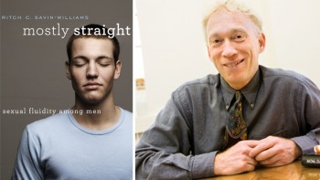 Book cover of 'Mostly Straight' and the author Savin-Williams