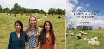 Helen Trejo and Nidia Trejo visiting a farm